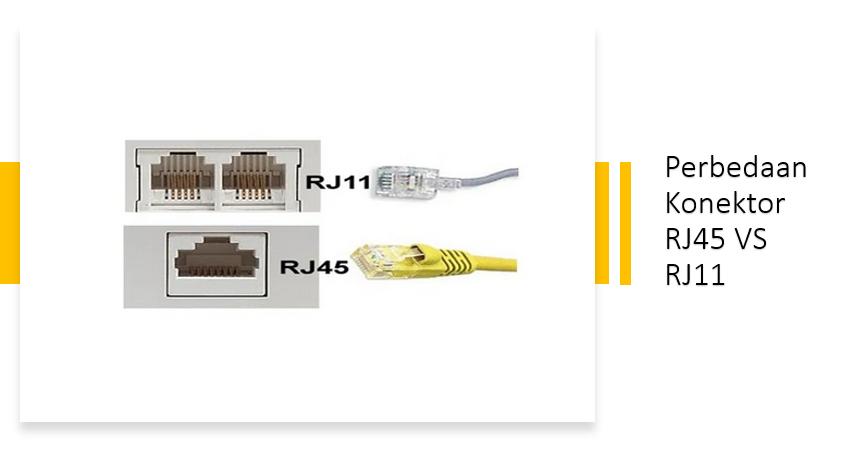 Read more about the article Perbedaan RJ 45 dan RJ 11  Pengertian